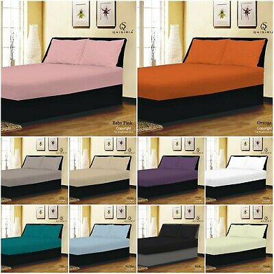 £5.75 • Buy Extra Deep 25cm Fitted Sheets Bed Sheets Single Double King Super King Size