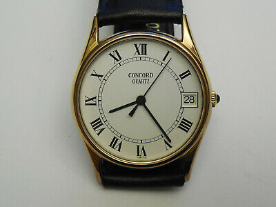 $269.99 • Buy Genuine Concord Mariner Gold Plated 33mm Ronde Date Men's Watch