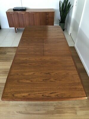 AU1400 • Buy Parker Rectangular Teak Dining Table, Extendable Midcentury, Retro Vintage