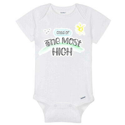 AU16.51 • Buy Christian Baby Onesies Child Of The Most High White