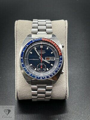 $ CDN970.52 • Buy Vintage Seiko 6139-6002 Pogue Blue Resist Dial Chronograph Pepsi Bezel (246)