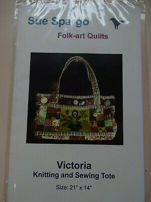 £6 • Buy Pattern For Sue Spargo Victoria Knitting And Sewing Tote Bag,  New