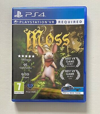 AU3.92 • Buy Moss Sony Playstation 4 Vr (ps4 Psvr) Game