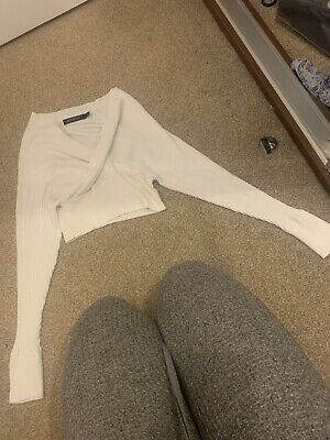 £5 • Buy Miss Pap Cropped Off The Shoulder Wrap Jumper Size S