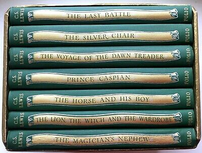 £49 • Buy FOLIO SOCIETY: C.S. LEWIS: 7 Volumes The Chronicles Of Narnia- Fine
