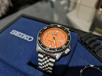 $ CDN290.66 • Buy Seiko SKX 011 J Orange Divers Watch, With Jubilee And Rubber Straps 007 009