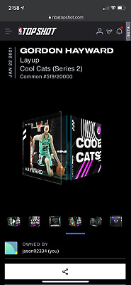 $5 • Buy Gordon Hayward NBA Top Shot Layup Cool Cats 519/20000 Series 2 NFT Hornets '21