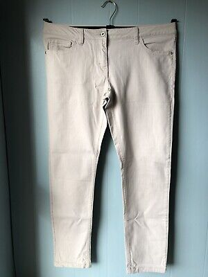 £9.99 • Buy Next Relaxed Skinny Jeans Size 12 R Natural Stone Dark Cream Colour