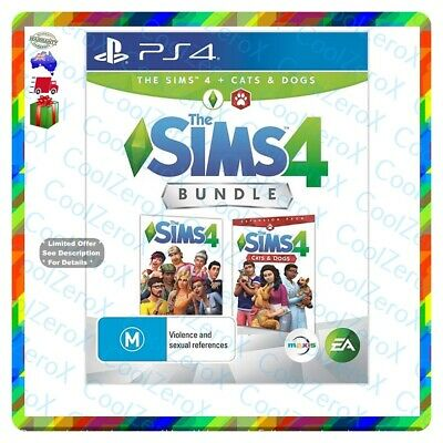 AU54.79 • Buy Ps4 The Sims 4 + Sims 4 Cats & Dogs Bundle PS4 Pro