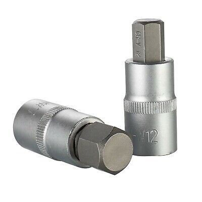 Drill Bit Socket 1/2'' Driver 1/2inch Driver Hex Adapter Kit 4-19mm High Quality • 12.66£