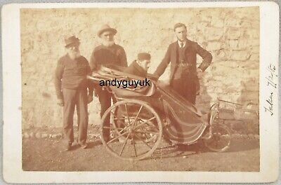 £10.50 • Buy Cabinet Card Young Invalid In Bath Chair Walter Lyme Regis Antique Photo Dorset