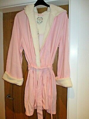 AU21.39 • Buy Ladies NIGHTWEAR DRESSING GOWN WITH HOOD SIZE 12-14 BOUX AVENUE