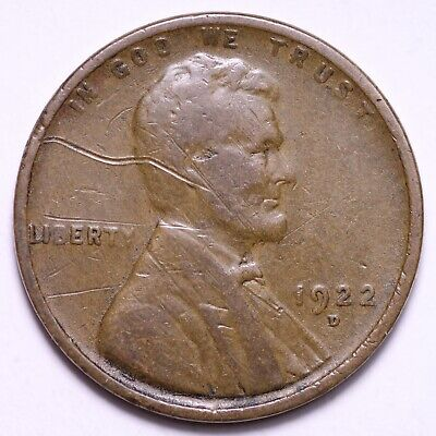 $ CDN3.94 • Buy VG 1922-D Lincoln Wheat Cent Penny FREE SHIPPING