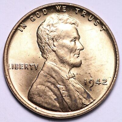 $ CDN1.20 • Buy UNCIRCULATED 1942 Lincoln Wheat Cent Penny FREE SHIPPING