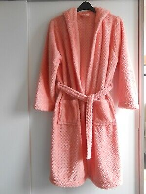 AU10.70 • Buy Hooded Dressing Gown - Coral Size M - George Asda