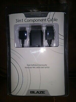 £11.50 • Buy 3 In 1 Component Cable Wii Xbox 360 & PS3