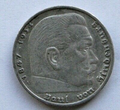 AU11.31 • Buy Coins 1936 Germany 5 Reichsmark, Silver Coin #1202