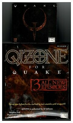 $ CDN157.20 • Buy Quake & Expansion Q!Zone For Quake PC Both New Original Shooter & Expansion