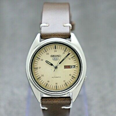 $ CDN30.22 • Buy Authentic Seiko 5 Automatic Movement 7009-3040 Japan Made Men's Watch.