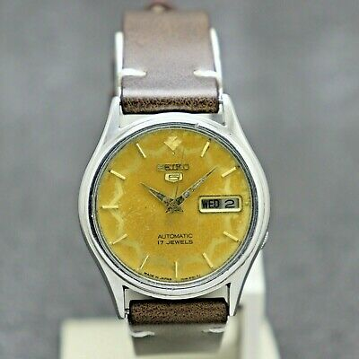 $ CDN30.22 • Buy Vintage Seiko 5 Automatic Movement No. 7009 Japan Made Men's Watch.