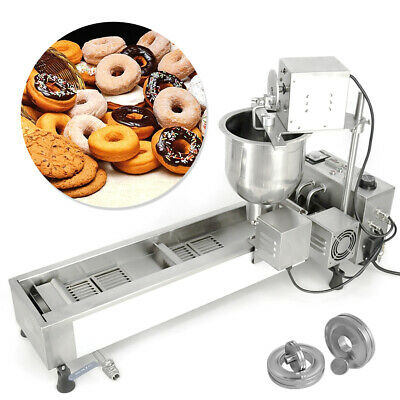£750.12 • Buy Wide Oil Tank Donut Maker Making Machine Automatic 220V +3 Sets Mold Commercial