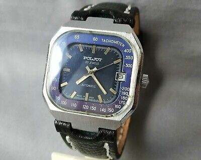 $ CDN108.83 • Buy Soviet Rare Men's Watch POLJOT Tachometer Automatic Winding Mechanical USSR