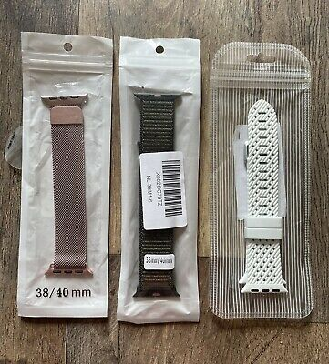 $ CDN9.67 • Buy SET OF THREE - Dressy/Casual/Sport - Bands For Apple Watch - 38/40mm