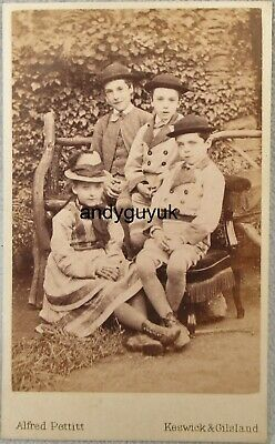 £3.95 • Buy Cdv Group Named Children Blundell Family Matching Outfit Keswick Gilsland Spa