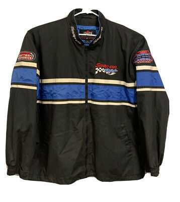 $ CDN93.98 • Buy Choko Snap On Racing Zipper Up Jacket Polyester Lined Embroidered Black XXL/2XL