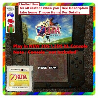 AU48.99 • Buy 3ds The Legend Of Zelda 2DS Ocarina Of Time 3D Link *JustCartridgeOnly*