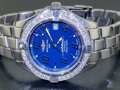 $ CDN923.83 • Buy Breitling Men's Colt Ocean A17050 Blue Dial Automatic Diamond Watch