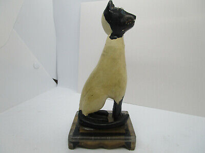 $ CDN72.49 • Buy Primitive Antique Hand Carved Folk Art Cat Sitting On A Stand
