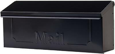 $17.87 • Buy Wall Mount Black Mail Box Heavy Duty Galvanized Steel Extra Large Mailbox Home