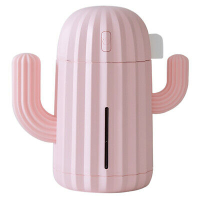 AU17.19 • Buy 340ml Cactus USB Charge Air Humidifier Aroma Essential Oil Diffuser (Pink)