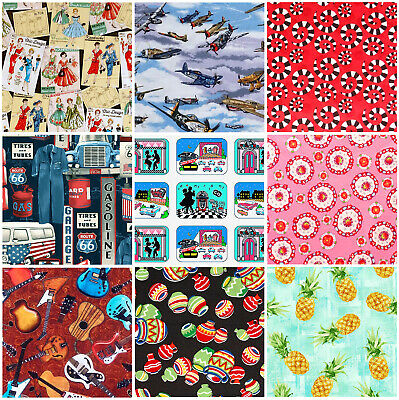 £5.65 • Buy END OF BOLT PIECES / Designer FABRIC REMNANTS / OFF CUTS - 100% Cotton