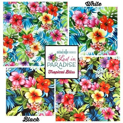 £8.50 • Buy Michael Miller LOST IN PARADISE - TROPICAL BLISS Floral Palm Leaf Fabric