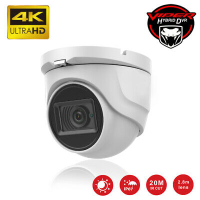 £44.99 • Buy Hikvision Oem 8mp 4k Cctv Camera Nightvision Ip67 Outdoor Indoor Uhd Dome 30m Ir