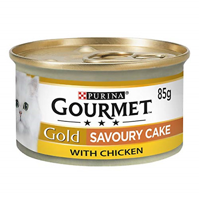 £11.05 • Buy Gourmet Gold Tinned Cat Food Savoury Cake Chicken 85g Pack Of 12
