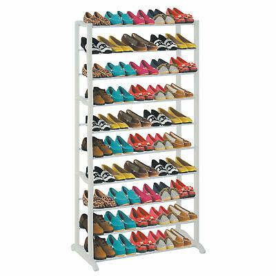 AU23.89 • Buy 50 Shoe Rack 10 Tier Storage Organiser Stand Shelf Pairs Trainers Compact Space