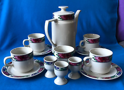 £28 • Buy Crown Dynasty Roses ~ Coffee Cups Saucers  Pot/Jug Egg Cups Sugar Bowl