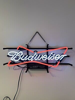 $ CDN271.11 • Buy Budweiser Neon Sign Light Traditional Bent Glass, Completely Handmade 45cm
