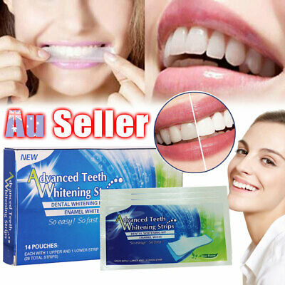 AU9.98 • Buy 28 Tooth Advanced Professional White Strip Bleaching Teeth Whitening Strips