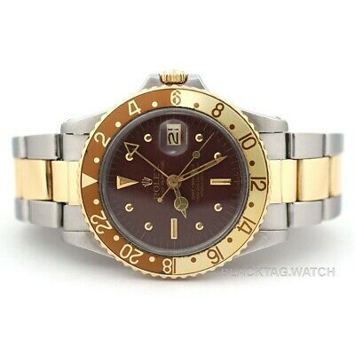 $ CDN16328.92 • Buy Rolex GMT-Master Oyster Perpetual Wristwatch 1675 Root Beer Gold Steel
