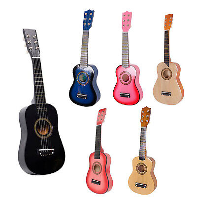 £12.99 • Buy 21  23  25  Inch Kids Wooden Acoustic Guitar Children Toy Gift W/Pick 6 Strings