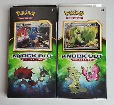 $34.99 • Buy Pokemon TCG Knock Out Collection Tyranitar & Lucario Lot Of 2 Sealed Boxes