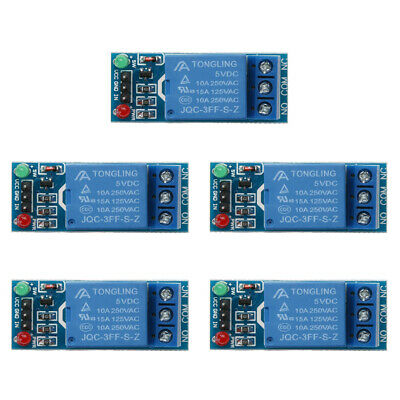 AU9.99 • Buy 5pcs 1 Channel DC 5V Relay Switch Module For Arduino Raspberry Pi ARM AVR