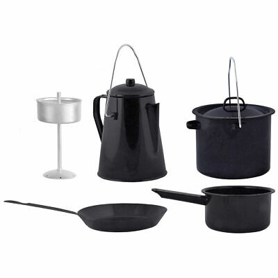 £55.83 • Buy Esschert Design Four Piece Outdoor Cooking Set Equipment Cookware Black FF215