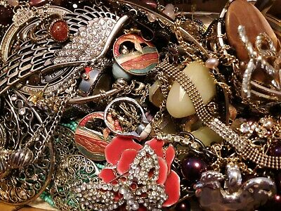 $ CDN18.15 • Buy #11 Vintage To Now Estate Find Jewelry Lot Junk Drawer Unsearched Untested Wear