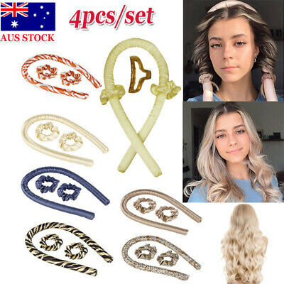 AU17.90 • Buy Magic Hair Curlers Styling Tool Curling Ribbon Silk Hair Rollers Lazy Curler Set