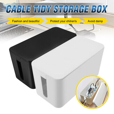 £11.98 • Buy Cord Cable Storage Box Wire Management Socket Tidy Organizer Home Office Case